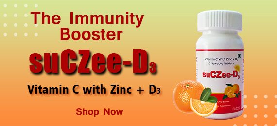 Suczee-D3 The Immunity Booster Vitamin C with Zink